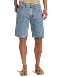Lee Men's Regular Fit Denim Short, Light Stone, 30