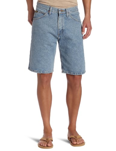 Lee Men's Regular Fit Denim Short, Light Stone, 38