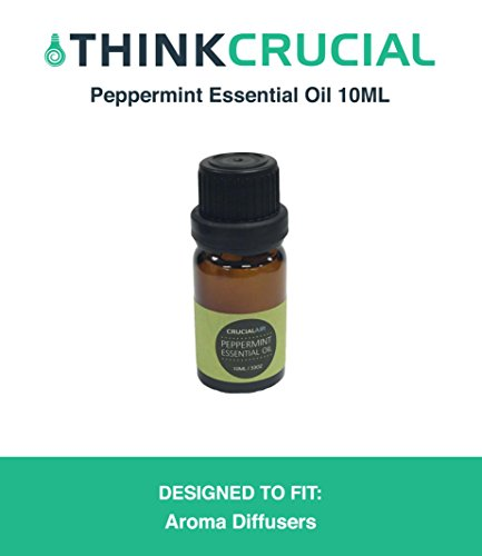 Think Crucial Sweet Peppermint Infused Essential Oil for Aromatherapy, 10 ML Bottle, Therapeutic Grade, Wellness Spa Mist ()