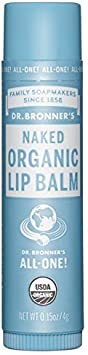 Dr. Bronner Magic All-One Organic Lip Balm – Naked – Case of 12 Tubes