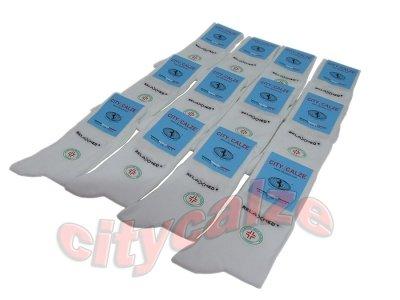 12 paia calzini sanitari in cotone caldo elasticizzato bianchi con polsino anti-stress Nazario Casto Calze snc