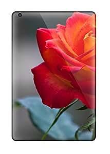 Excellent Ipad Mini/mini 2 Case Tpu Cover Back Skin Protector Orange Rose