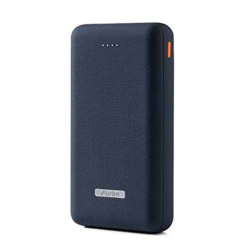 URBN 20000 mAh Li-Polymer Ultra Compact Power Bank with 12W Fast Charge and (Blue)