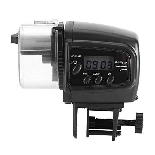 Yosoo Alimentador Automático de Pescado Acuario Alimentador Automático de Alimentos para Peces Máquina LCD Alimentador...