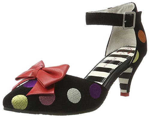 LOLA RAMONA Kitten, Sandali con Cinturino alla Caviglia Donna Nero (Black 90)