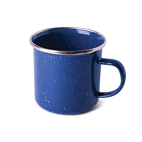 ENAMEL COFFEE MUG - S.S. EDGE - 12 OZ, Case of 24