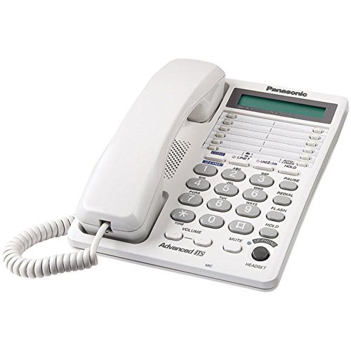 Integrated Telephone System (PANASONIC KX-TS208W Integrated Corded Telephone System with Hearing Aid Compatibility & 16-Digit LCD (2-Line System))