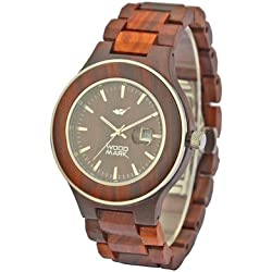 Wood Mark ZS-W1000A Mens Voyager Red Sandalwood Watch