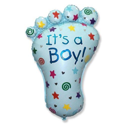 LA Balloons Foil Balloon 901619 Its A Boy Foot 38 Multicolor