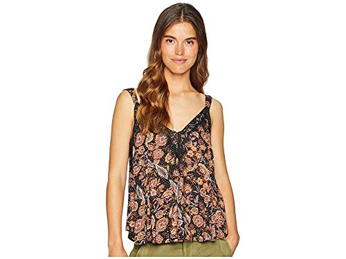 Free People Women's Infinite Love Cami Black Combo Large
