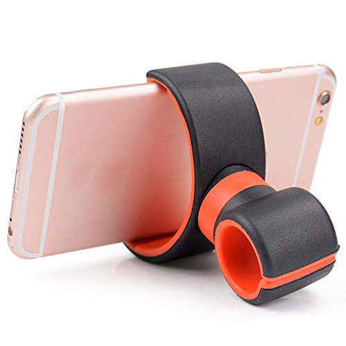Mobile Phone Holder, Elevin(TM) 360 Degrees Universal Air Vent Mount Bicycle Car Cell Phone Holder Stands for iPhone 6 Plus/7/8/X 3.5-6.0inch Phone (Red)