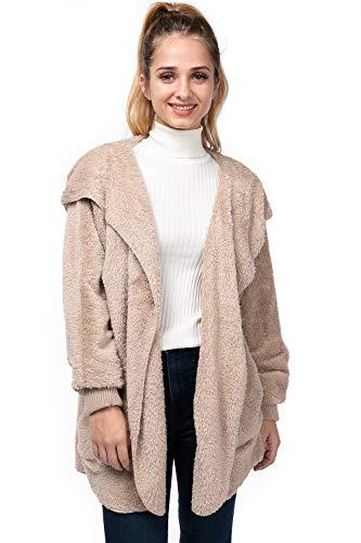 Hem and Thread Soft Fur Jacket (Taupe)