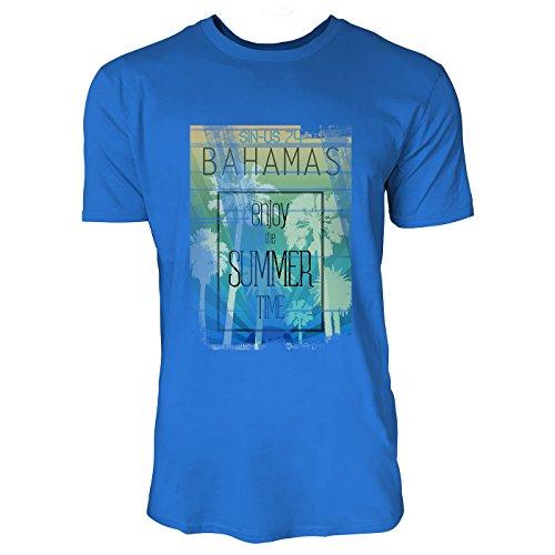 SINUS ART® Bahamas Enjoy The Summer Time Herren T-Shirts in Blau Fun Shirt mit tollen Aufdruck