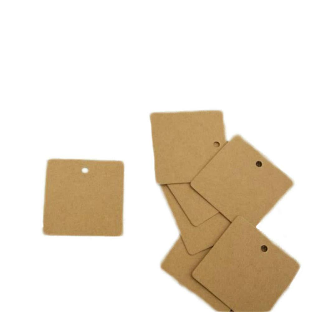 Leisial Lot de 100 /étiquettes cadeau en papier Kraft S noir