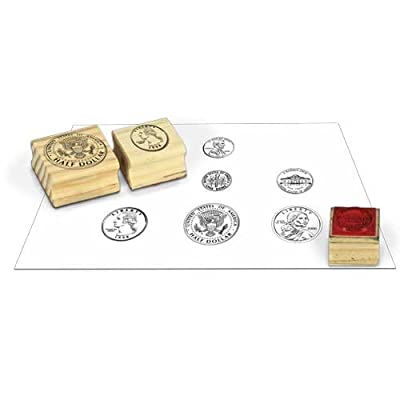 EAI Education Wooden Coin Stamps - Heads: Set of 6: Toys & Games