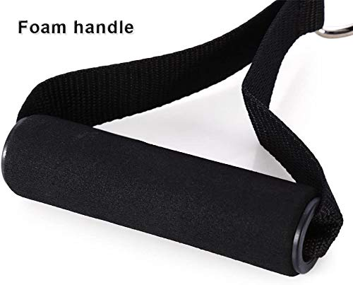 AIKESIWAY Resistance Bands Handles,Exercise Handles Foam,Resistance Tube Handle Super Strong Nylon Webbing for Resistance Training(1 Pairs)(Foam Handgrips)