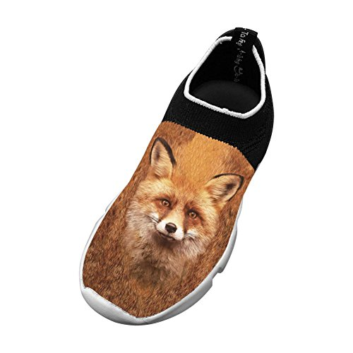 Sports Flywire Weaving Gym Shoes For Unisex Kid,Print Fox Face,3 D(M) Us Big Kid