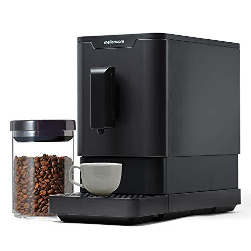 Mellerware Mmmm! Cafetera Superautomática con 19 Bar de presión. Cafetera para Espresso. Sistema Auto-Limpieza. Diseño…