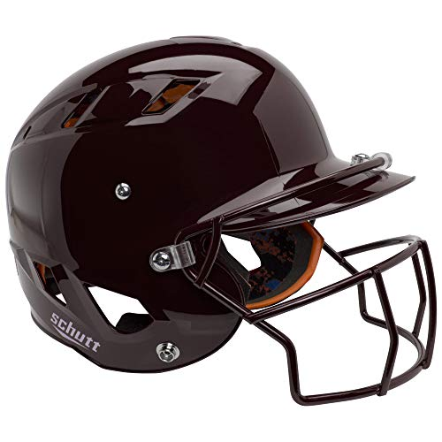 Schutt Sports Senior (Varsity) AiR 4.2 Softball Batter's Helmet with Faceguard, Maroon ()