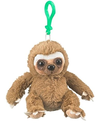 Amazon Com 4 5 Sloth Plush Stuffed Animal Clip On Keychain New