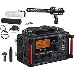 Tascam DR-60DmkII 4-Channel Portable DSLR Audio Recorder Bundle with Movo VXR100 Supercardioid Shotgun XLR Video Microphone