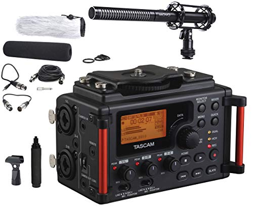 Tascam DR-60DmkII 4-Channel Portable DSLR Audio Recorder Bundle with Movo VXR100 Supercardioid Shotgun XLR Video Microphone