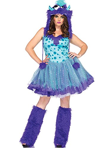 Leg Avenue Womens Plus Size Full Figure Polka Dot Monster Roleplay Costume 1x2x]()