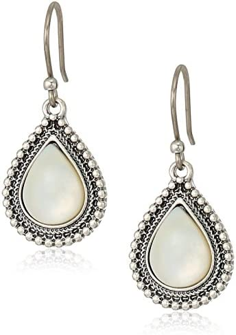 Lucky Brand Womens Mother-of-Pearl Drop Earrings