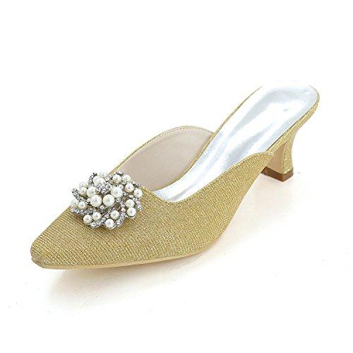 L@YC Women'S High Heels Spring / Summer / autumn / Silk Wedding / Party Evening & Cool Slippers Gold