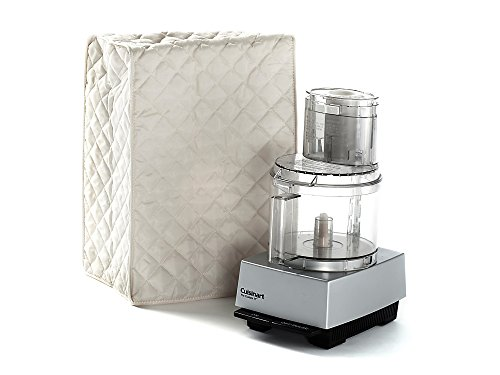 CoverMates – Food Processor Cover – 14W x 9D x 14H – Diamond Collection – 2 YR Warranty – Year Around Protection - Cream
