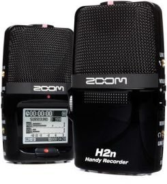 Zoom H2n Handy Handheld Digital Multitrack Recorder Bundle with APH-2n Accessory Pack, Earbuds, 1/8-Inch-to-RCA Cable, and 3.5mm Stereo Cable by Zoom