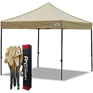 ABCCANOPY Gazebo 3 x 3 m, impermeabile, gazebo pop-up, tenda da giardino, tenda per feste, beige 41VaiYK5DjL. SS300