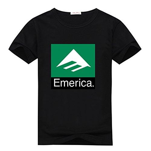 Fancesca Women's Emerica Men's Combo 10 Graphic Logo Printed Crew Neck Tops XL Black ()
