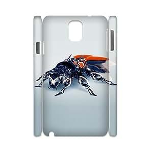 3D Okaycosama Funny Samsung Galaxy Note 3 Case 3D 29 for Guys Design, Samsung Galaxy Note 3 Case for Men, [White]