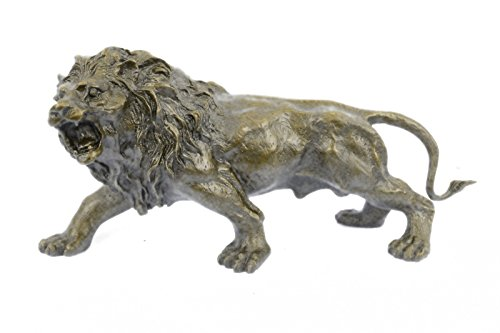 Handmade European Bronze Sculpture Handcrafted SALE Deco Art Lion African Wildlife Cast Hot