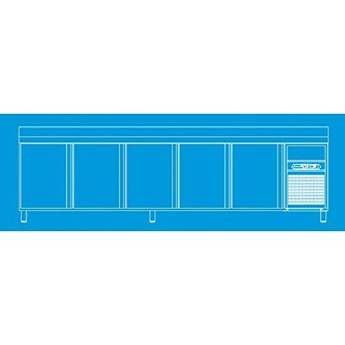 Arrière bar 600 positif - 5 portes et 2 tiroirs L3070 x P600 x H1040 mm -CORECO