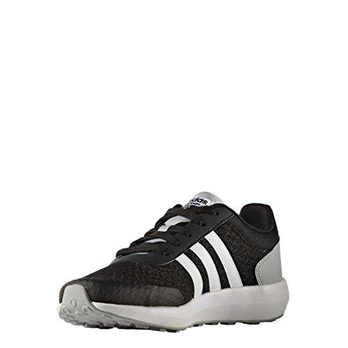 adidas Cloudfoam Race K, Chaussures de Tennis Mixte Enfant, Noir (Negbas/Ftwbla/Onicla), 36 EU