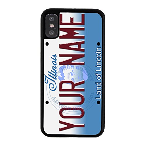 - BleuReign Personalized Illinois License State Plate Rubber Phone Case for Apple iPhone X Xs Ten