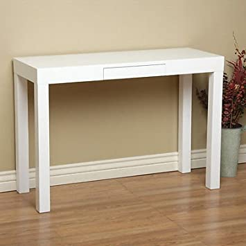 Amazoncom Lachlan Glossy White Sofa Table Kitchen Dining