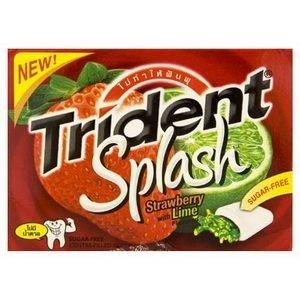 Trident Splash Sugar Free Gum, Strawberry - Lime, 9-Count (Pack of (Strawberry Splash)