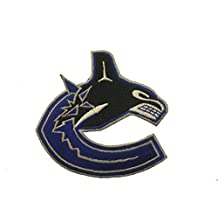 Vancouver Canucks NHL Hockey Logo Embroidered Iron On Patch Crest Badge .. Size : Small 7.5 x 7 Cm ... New