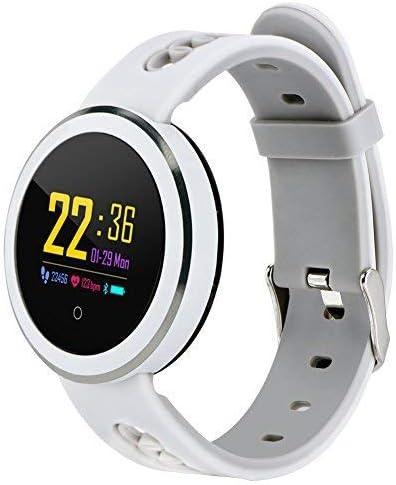 Vbestlife Reloj Inteligente Pulsera de Actividad Pantalla IP68 Impermeable Monitor de Presión Arterial y Sueño Recordatorio de Llamada y Mensajes(Blanco)