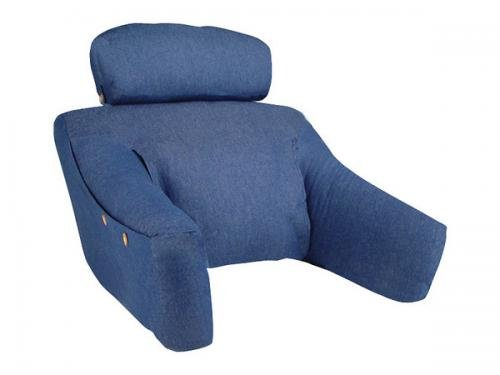 Cequal - BDLF-DEN-H - Bedlounge Hypoallergenic Fill Bed Reading Pillow - Denim Blue - (Bedlounge Reading Pillow)