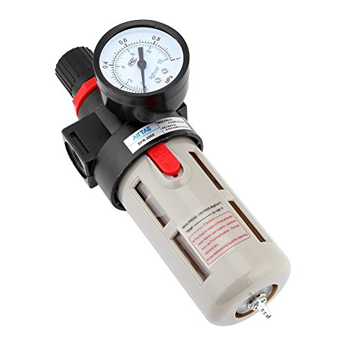 Air Regulators High Pressure (Akozon 1/4'' BFR-2000 Pneumatic Filter Regulator Air Source Gas Treatment Unit with Pressure Gauge)