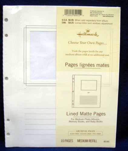 Hallmark Lined Matte Pages by Hallmark