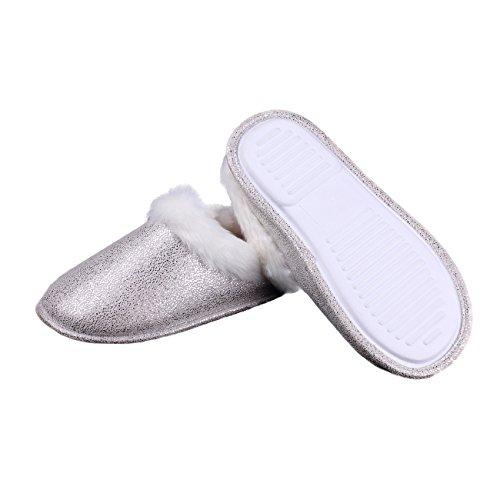 OFOOT - Zapatillas de estar por casa para mujer Beige