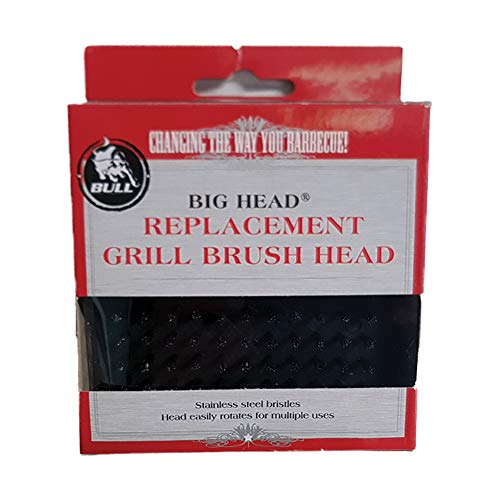 Bull Big Head Grill Brush Replacement Head for Models 24103 and 24218, Black ()