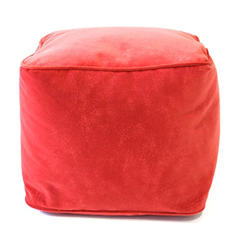 Gold Medal Bean Bags Micro-Fiber Suede Ottoman, Medium, Flame Review