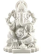 Rare Lord Ganesh Ganesha Beautiful Statues Hindu Good Luck God (Blessing White Ganesha)