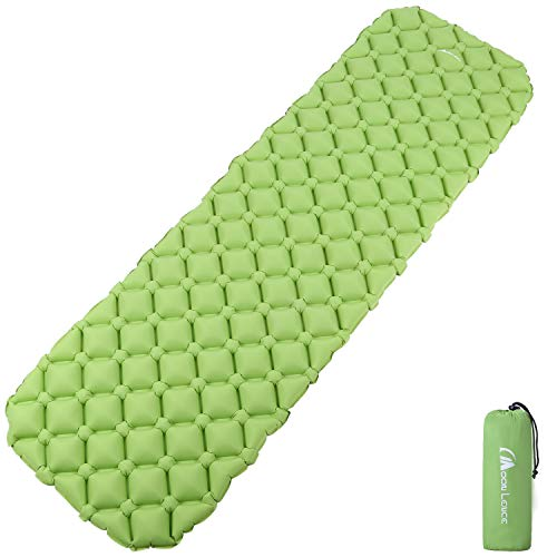 MOON LENCE Sleeping Pad for Camping Backpacking Ultralight Compact Air Pad Inflatable Lightweight Sleeping Mat Portable Outdoor Hiking Mattress(Green1)